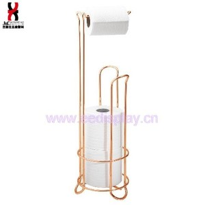 Rose Gold toilet paper holder,free standing toilet paper holder,toilet paper roll holder