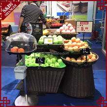 Floor-standing stand design supermarket fresh fruit and vegetables display case