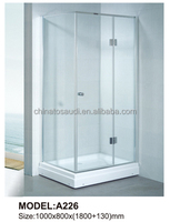 straight line shape corner bath shower screen / bath shower enclosure / bath shower room