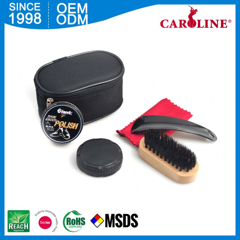 Preferential Price Gentleman Rectangle Button Bag Shoe Polish Box In Gift Shine Equipment