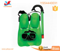 New arrival kids swimming tools breathing snorkel tools with goggles and fin