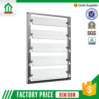 Adjustable tempered glass shutter window