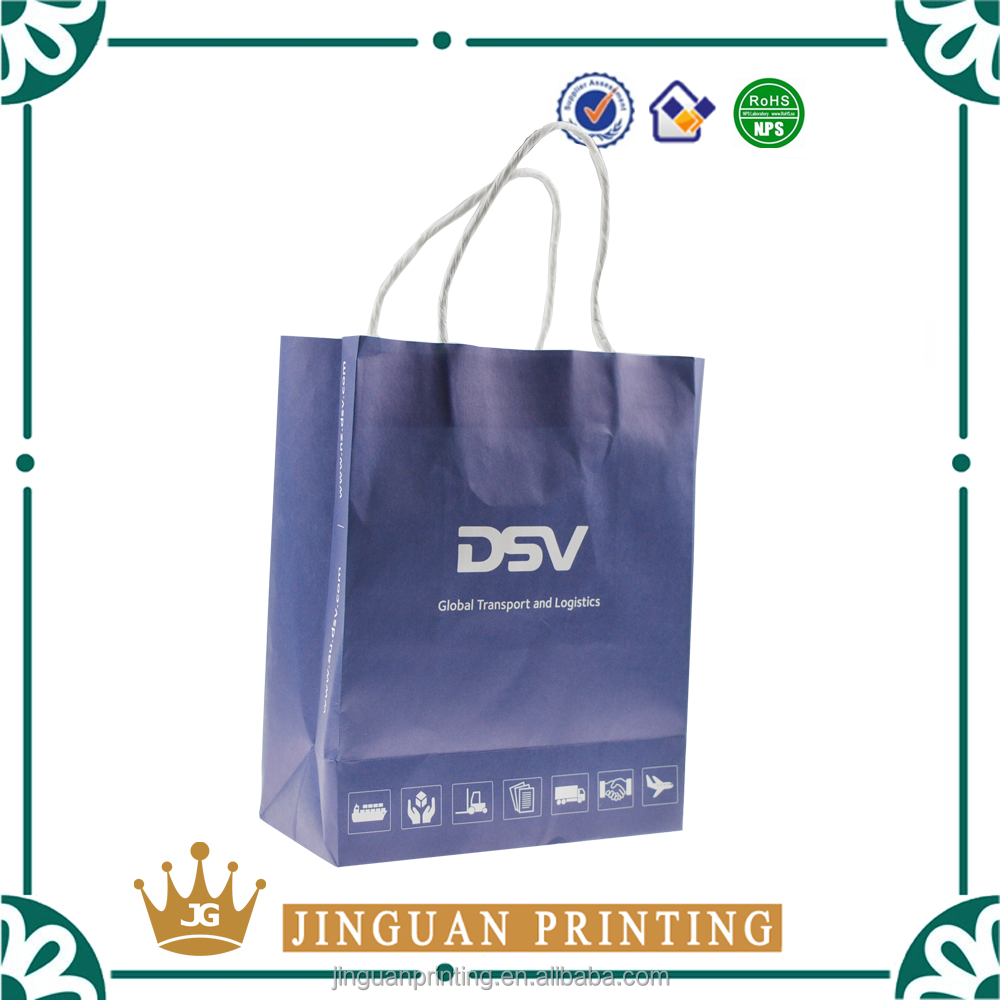 Recyled full color shopping packaging customized retail kraft paper bag