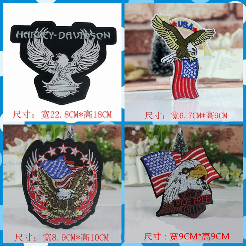 "cool military Set ""top gun"" eagle embroidered patches for clothing army biker logo sew iron on clothes badge motif appliques"