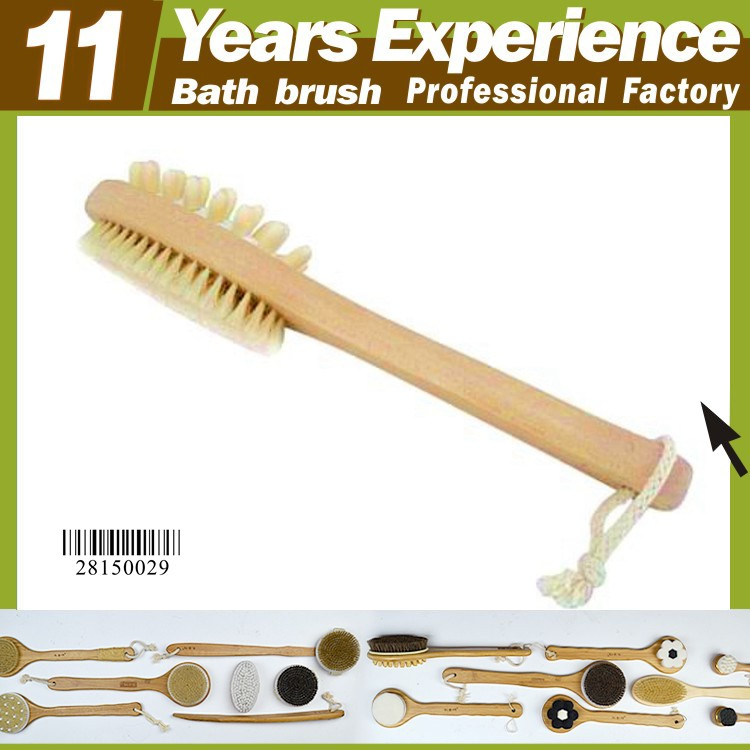 11 years experience professional soft bristles brush wholesale , Eco-Friendly wooden bristle bath brush