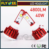Flydee DC12 24V V16 CREES XHP50 3600LM 4800LM 40W Turbo Auto Car LED Headlight Bulbs H4 H7 9004 9007 9005 9006 H10 H8 H9 H11 H13