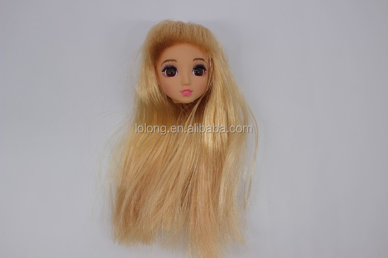 lovely girls body, plastic doll heada toys for girl, small beauty model head fashion dolls