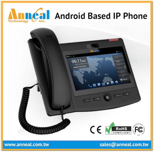High Quality Design 7'' Touch Screen SIP IP Video Android VoIP Phone