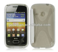 Anti-skid X line TPU S6310 Case for samsung galaxy young cases and covers