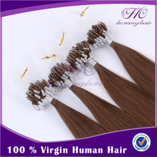 Zero Pollution And Lower Cost Russian Various Color Remy Micro-Ring Hair Extension