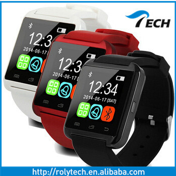 Cheap Bluetooth android smart watch dual sim smart watch u8 2015 ce rohs u8 smart watch