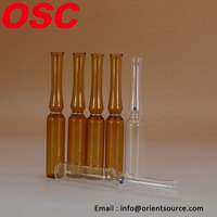 amber clear ampoules made of low/neutral borosilicate glass