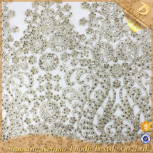 Shaoxing Royal Embroidered Fabric Guipure Lace For Wedding Dress