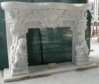 electric fireplace marble top (factory + cheapest)