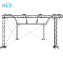 High Quality aluminum circle and curved roof stage spigot truss