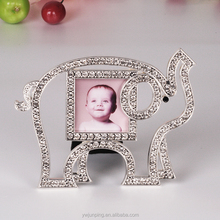 Kids Photo Frame with Elephant Rhinestone Small Metal Picture Frame Home Decor Photo Frame