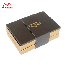2 Layers Luxury brown paper chocolate bar packaging box