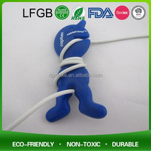 silicone cable wire organizer for MP3,MP4,Mobiephone earphone