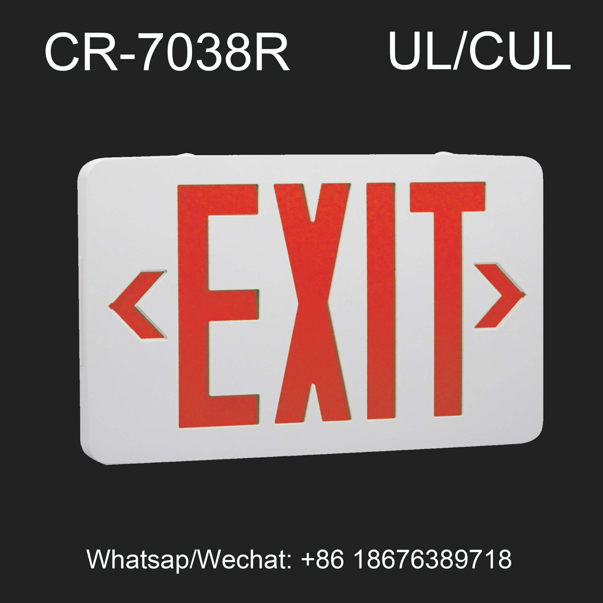 UL listed Double Sided LED Emergency Exit Sign