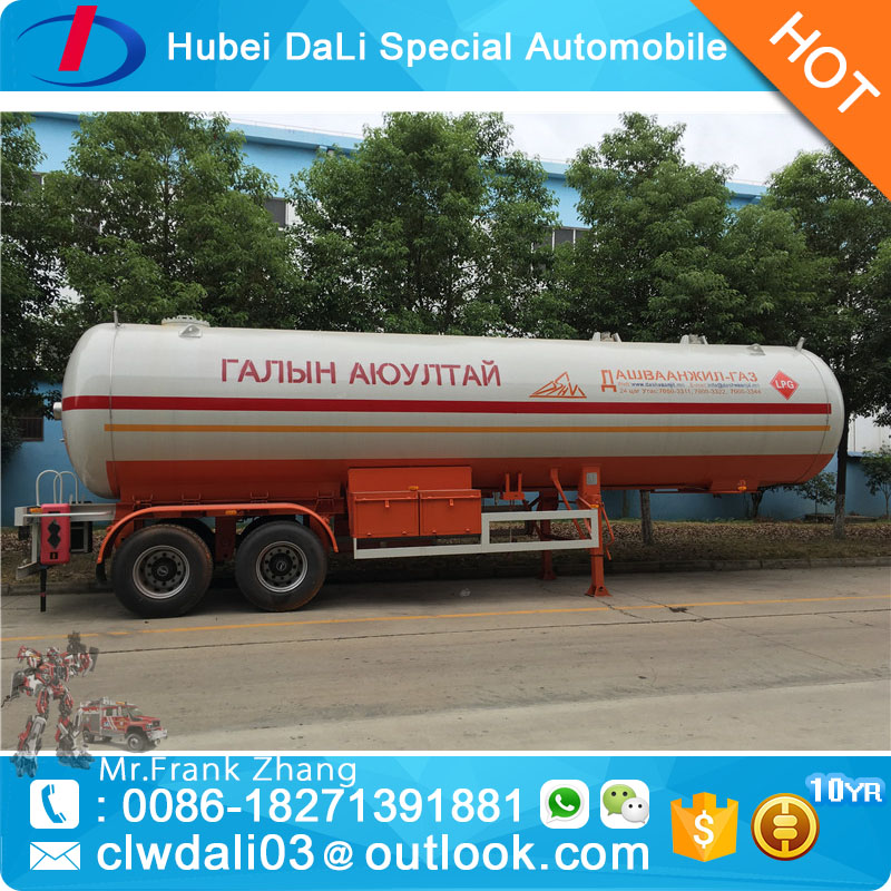 40000 liter 40cbm 2 axles lpg tank trailer
