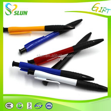 Logo Printed Bestselling flashing ball top light up pen