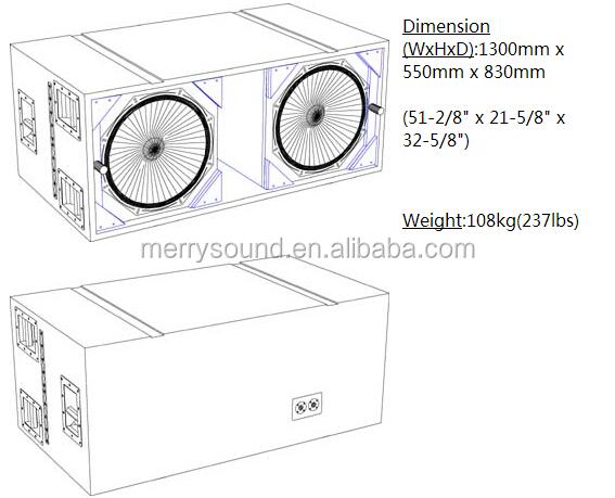 Sb218 /sb-218,Powerful Subwoofer Empty Cabinets/ Box,Dual ...