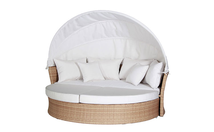 Popular outdoor garden furniture rattan wicker sofa  sunbed rattan day bed