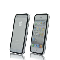 for Apple iPhone 5 5G Gen Black white solid Hard Bumper+Metal Button Cover Case