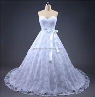 MN-W103 Strapless Sweetheart Lace Up Empire Waist Maternity Wedding Dress With Train