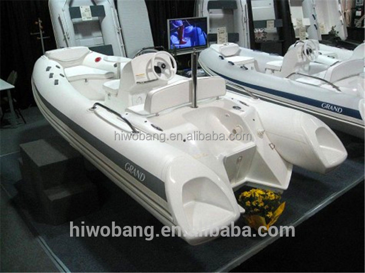 RIB boat customized design inflatable large fiberglass fishing boat for sale