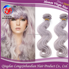 Factory Price Cheap Virgin Brazilian Human Hair, White Hair Extensions Grey Hair, Grey Human Hair Weaving Body Wave Wholesale