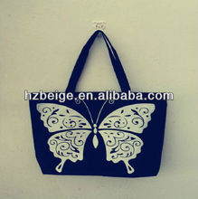 Printed butterfly canvas bag Plain school tote bag manufacturer
