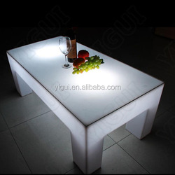 2015 waterproof illuminated led table bar furniture/ outdoor led furniture table