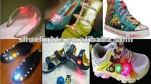 flash light shoes/battery operated led shoes light