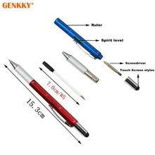 6 in 1 plastic Multitool Pen with Built-In Ballpoint Handy Screwdriver Ruler cheap plastic tool pen