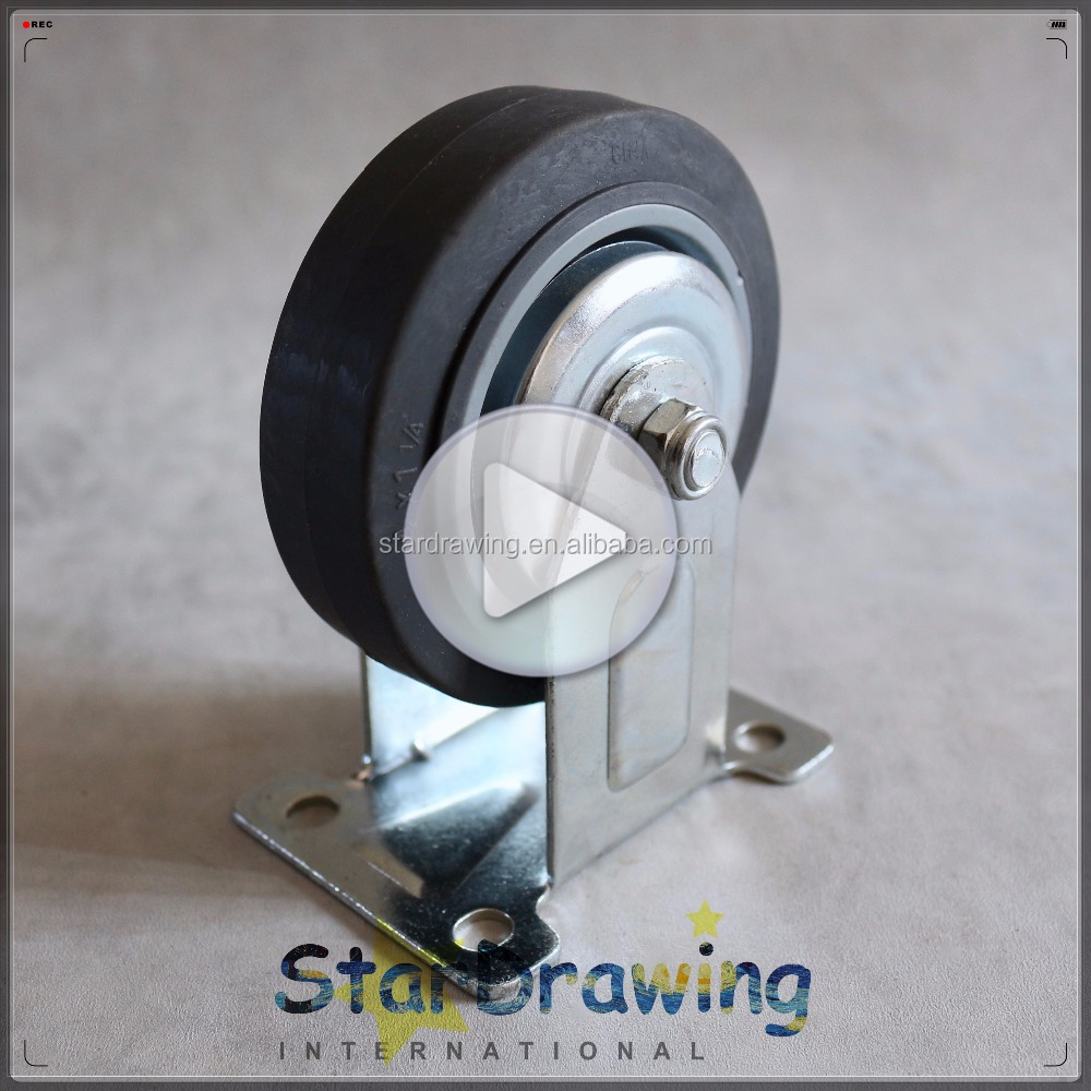 TPR fixed 4 inch small wheels for carts