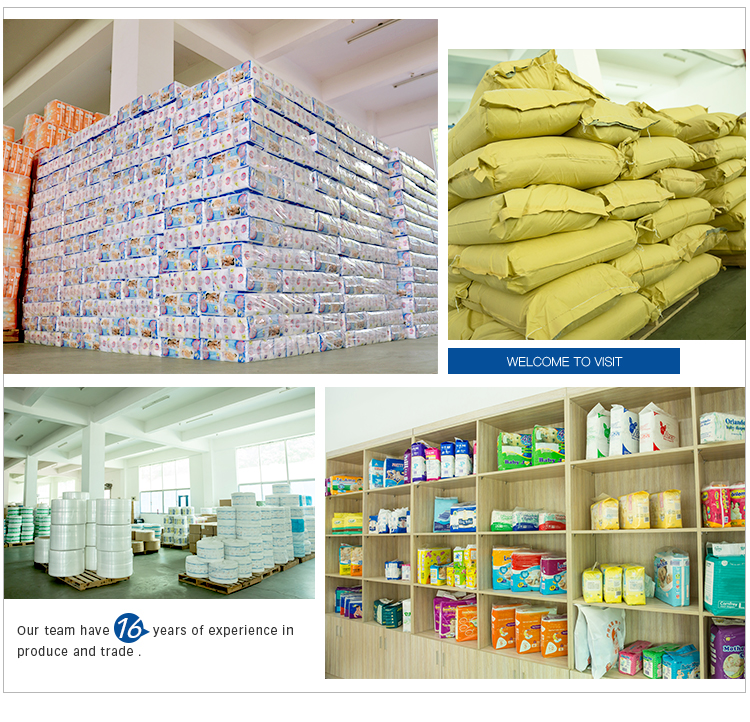 High Quality Disposable Sleepy Baby Diapers factory in China