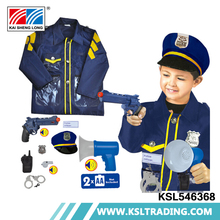 Good design high quality shantou kids police costume with props