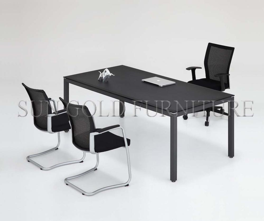 Hotsale 현대 사무실 BanquetFurniture 블랙 작은 회의 테이블 6 (SZ-OT102 ...