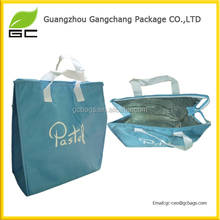 2016 Cheap price fast mass production Around zipper mini handle aluminum thermal non woven bag