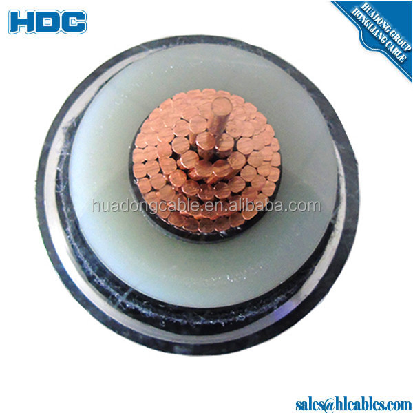 SOLID COPPER CONDUCTOR 4 AWG 5 KV EPDM INSULATION ALLOY LEAD SHEATH OIL-RESISTANT LAYER GALVANIZED ARMOR CABLE