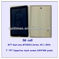 7.85 inch tablet pc MTK6577 Dual core HDMI with sim card calling facility