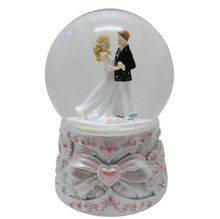 Wholesale Lover Snow Globe with Bow Tie,Wedding Gift,Resin Figurine Custom Snow Globe