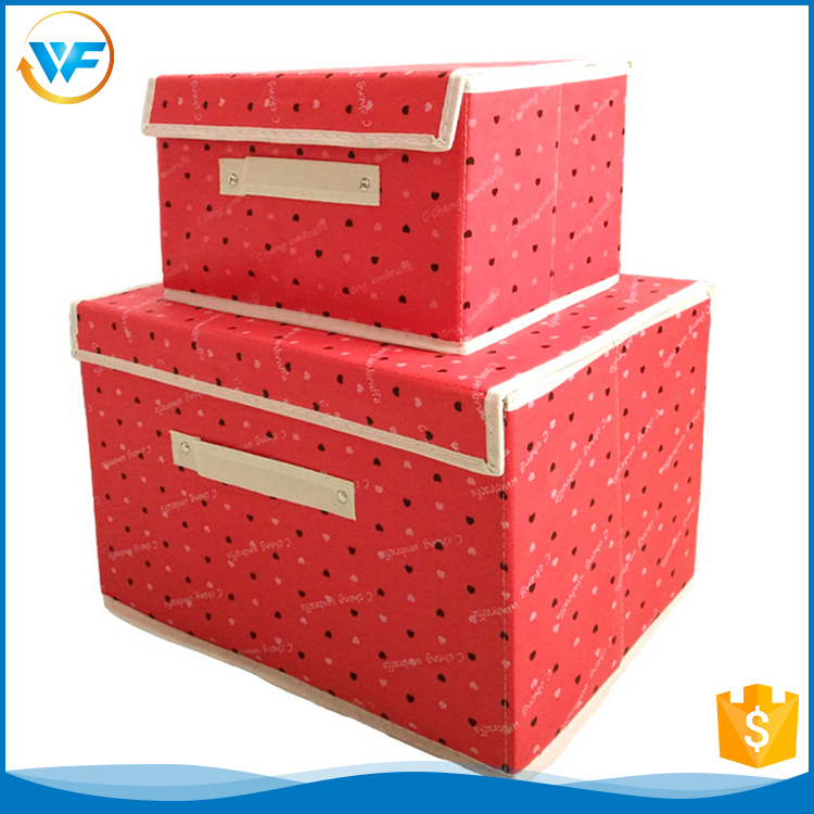 Custom Non Woven Stackable Storage With Lid