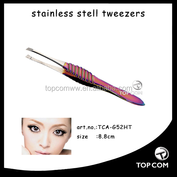 manicure instrument of stainless steel eyebrow tweezers