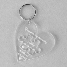Personalized Laser Engraved Transparent Acrylic Keychains
