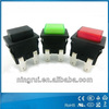 latching self-locking illuminated non-illuminated rectangular 2pin 4pin DPST t105 momentary push button snap action switches