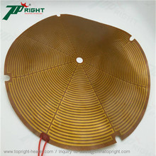 Topright-made Industrial round Kapton Film heater use in bullet camera housing