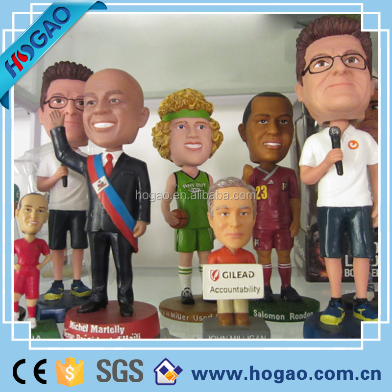 Customized funny Bobble Head , make Your Own Polyresin Bobblehead