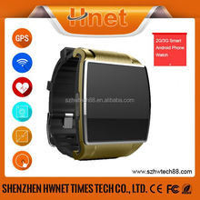 2015 Cheap latest wrist watch mobile phone touch screen android smart watch